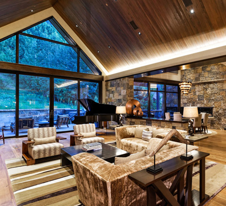 Aspen Luxury Vacation Rentals Living Room1