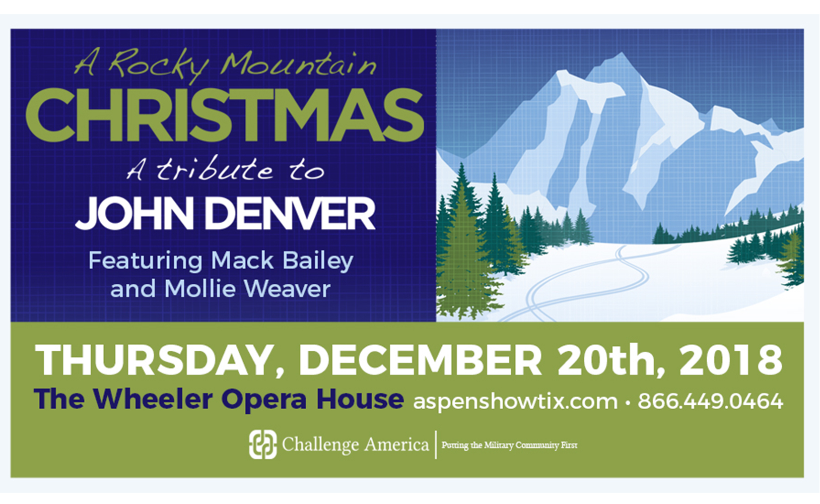 Challenge America presents A Rocky Mountain Christmas, A Tribute to ...